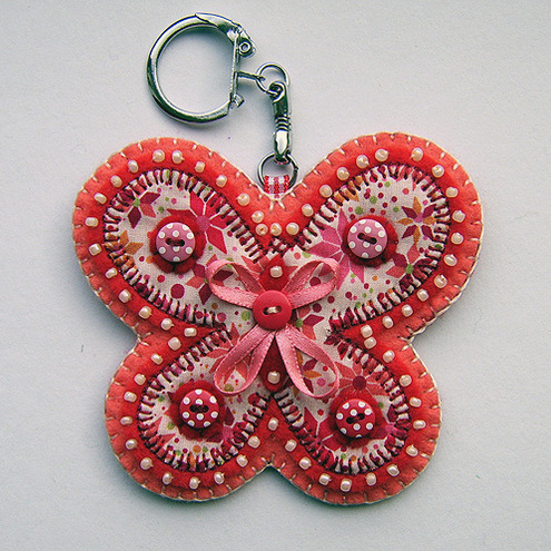 Butterfly Bag Charm / Keyring