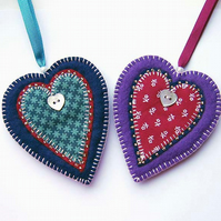Christmas Decorations ... set of 2 hearts