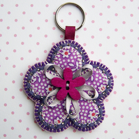 Flower Keyring ... Bag Charm