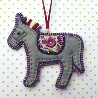 Felt Horse Decoration