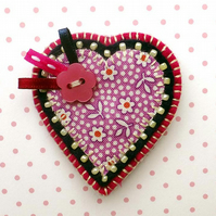 Sale! Felt Heart Brooch