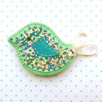 Applique Bird Brooch