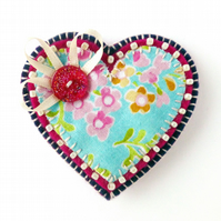 Summer Heart Brooch