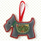 Scottie Dog Christmas Decoration