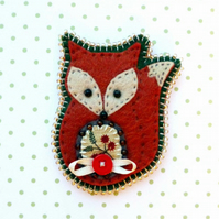 Reserved for Angela- Fox Brooch