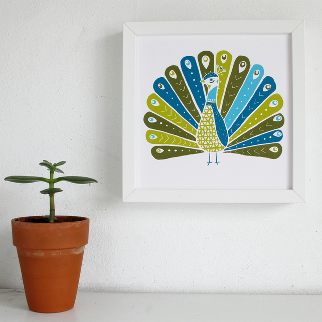 Peacock Screen Print