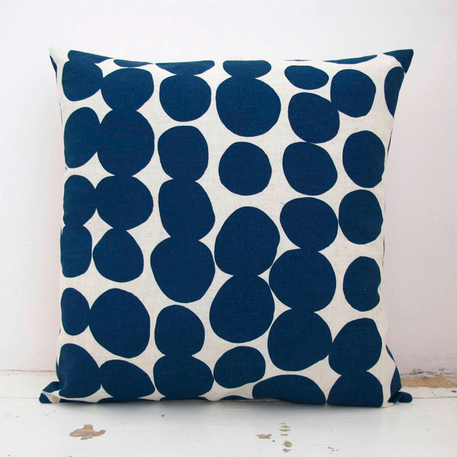 SALE Organic Hemp Spotty Cushion