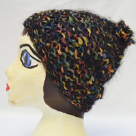 Hat - Black and multi-coloured