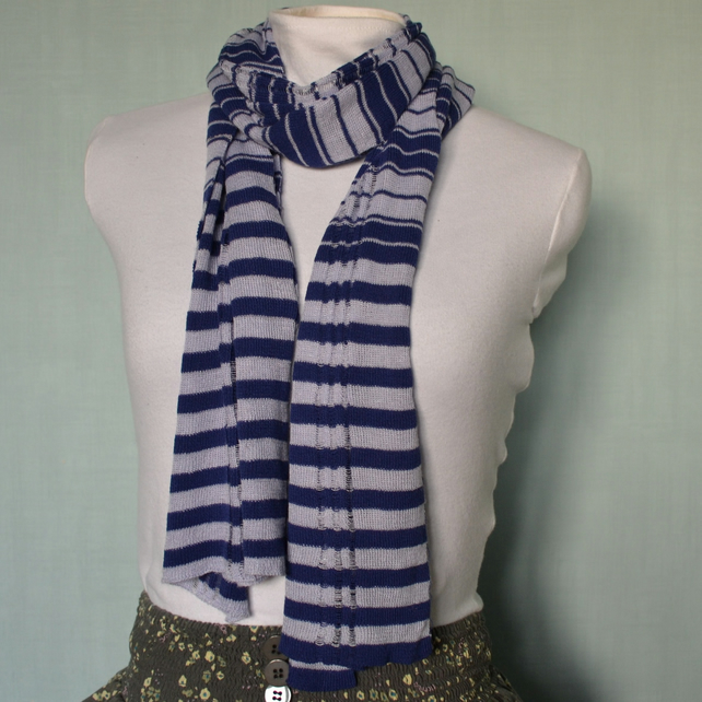 Purple and Lilac stripe scarf