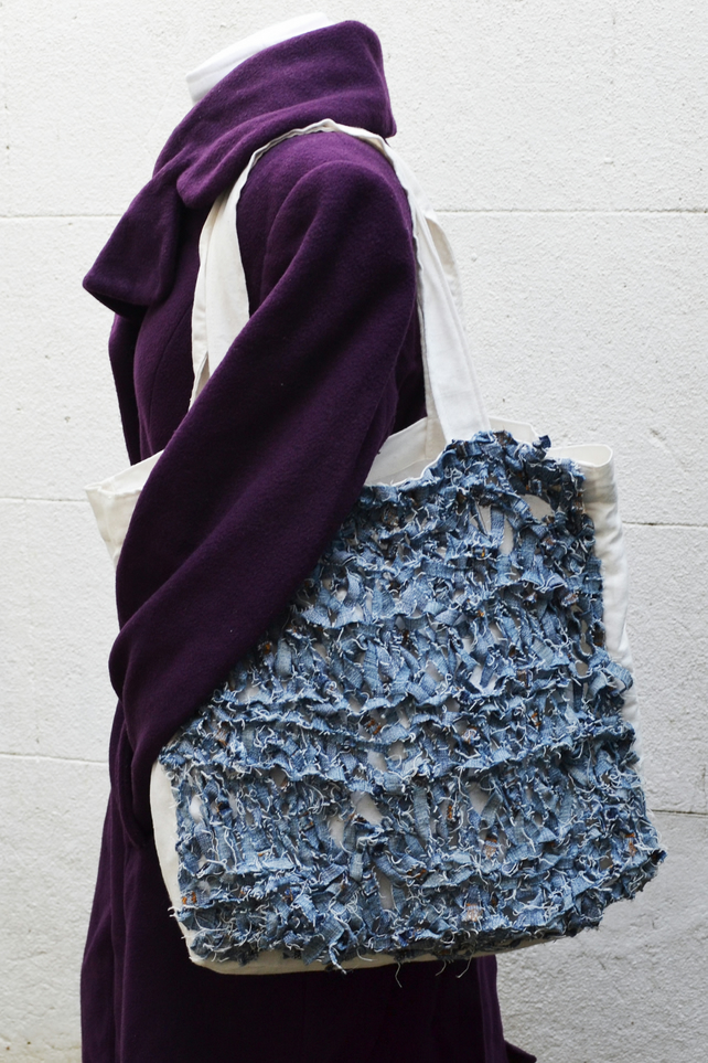 Large square Knitted shopping bag