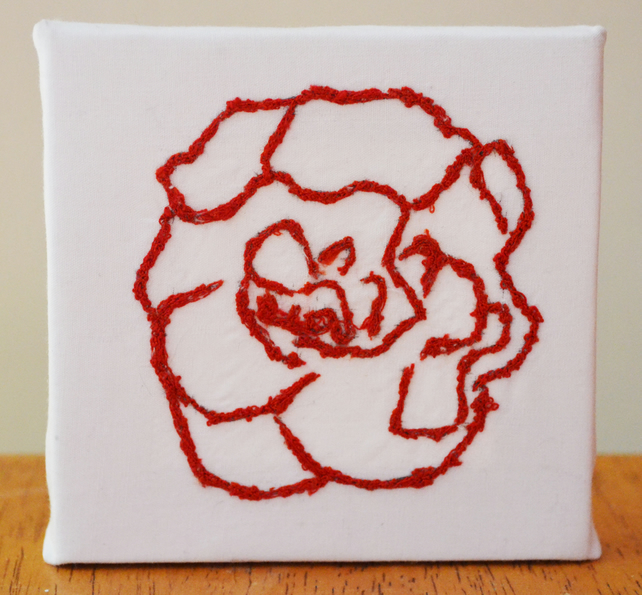 Small flower canvas