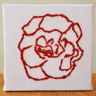 Small flower Embroidered on Canvas