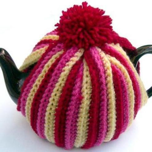 Small Dog Knitting Patterns : Crochet Pattern TEA COSY cozy ribbed by email PDF - Folksy
