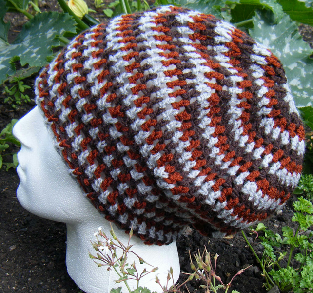 Crochet Pattern for Slouchy Rasta Tam Hat PDF - Folksy
