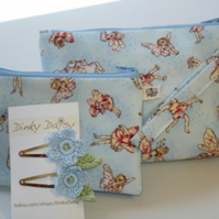 Flower Fairy Pouch, Purse and Clip Set
