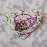 Tea Cup (lilac) : Love Token Brooch