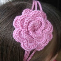 Hairband with flower