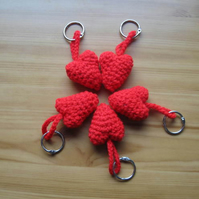 Valentine Heart keyring or bag charm