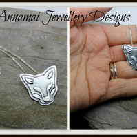 "Foxy. Sterling silver, approx 18"" length. Full set of UK hallmarks. Hand design"
