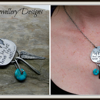Love her but leave her wild... moonlight mountain scene talisman turquoise