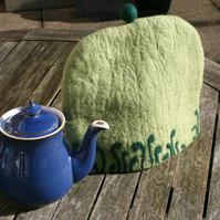 Hand Felted Fern Tea Cosy