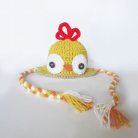 Crochet chicken baby hat made to order