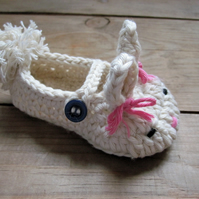 Bunny Baby Booties for Mrs A