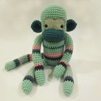 Geoffrey the cuddly crochet monkey NO SHIPPING CHARGES