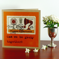 SALE: Greetings card - 'Can we be geeky together?'