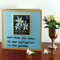 SALE: Greetings card - 'And when she woke...'