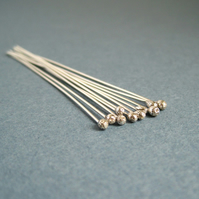 Sterling Silver Headpins 22g Bright
