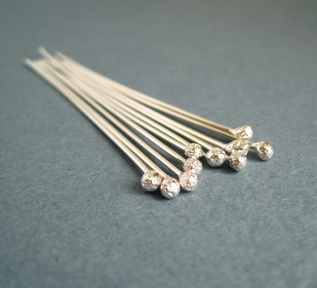 Sterling Silver Headpins 20g Bright
