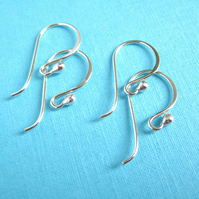 Sterling Silver Earwires Bright