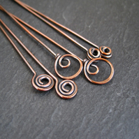 Copper Headpins Fancy