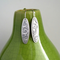 Sterling Silver Earrings, Metalwork Earrings