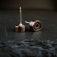 Copper Stud Earrings, Copper Earrings (C)