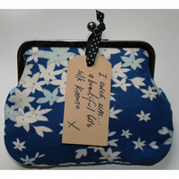 Imogen - Vintage Silk clasp frame purses clutch or make-up bags CUSTOM LISTING