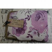 Evie - Vintage 70's Curtain Fabric clasp frame Ipad Mini, Kindle, Gadget Case