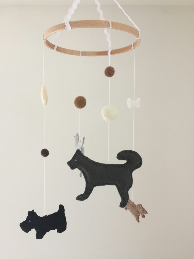 Woof! Dog Felt Baby Mobile