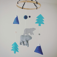 Bears, Trees & Mountains Scandi Felt Baby Mobile