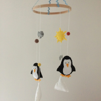 Penguin Felt Baby Mobile