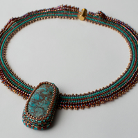 Egyptian Collar Beadwoven Necklace