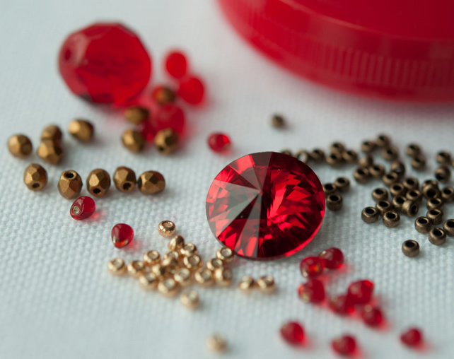 Materials Pack for Baroque Tape Measure Surround - Ruby & Old Gold