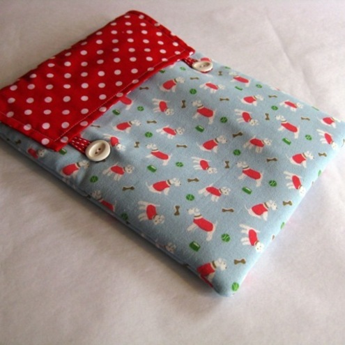Handmade Cath Kidston Mini Stanley dog print fabric iPad case cover sleeve
