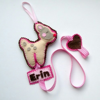 Fawn Hair Clip Holder Personalised with a name