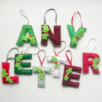 Personalised Letter Initial Christmas Tree Decoration