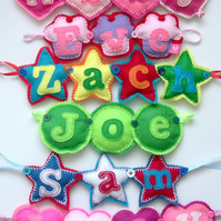 Personalised Name Banner Hearts Stars Cupcakes Bunting