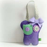 Tooth Fairy Friend Pillow - Purple and Green