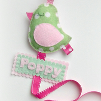 Personalise My Hair Clip Holder - Name Tag - OPTION
