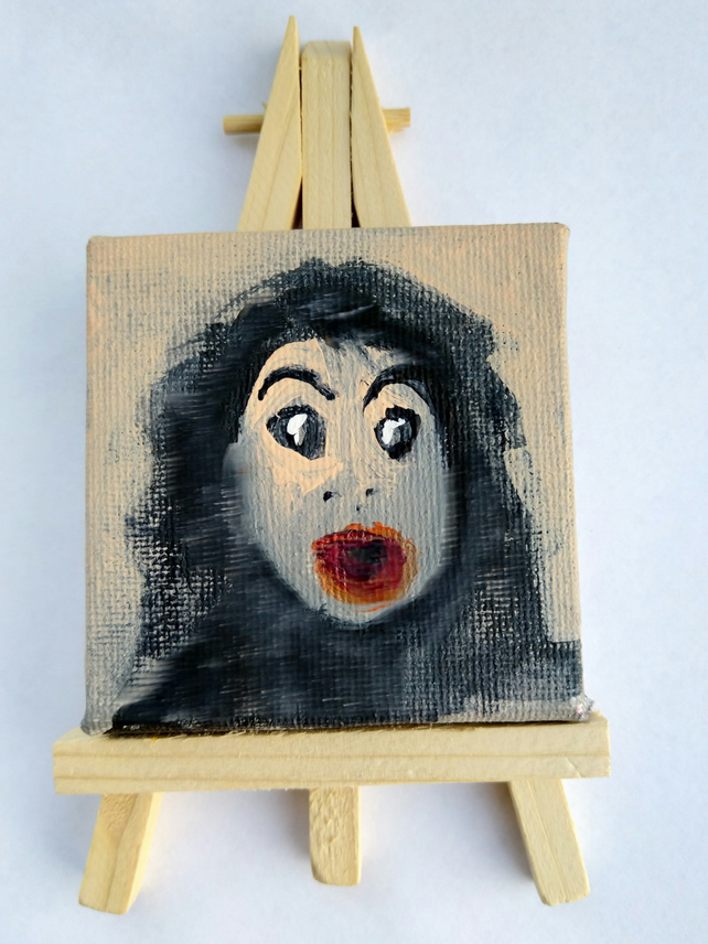 Michael on a mini canvas